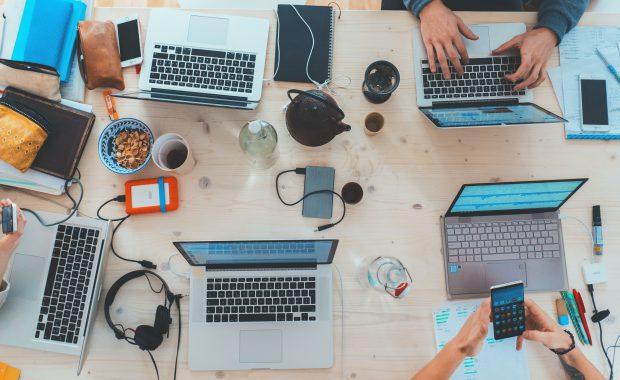 tech on a table
